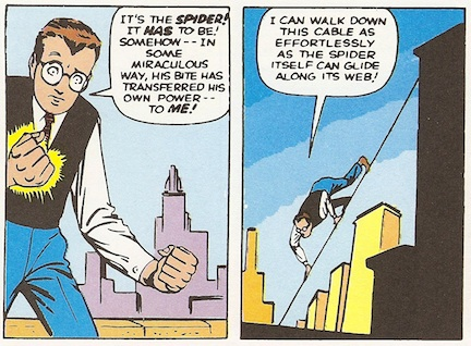 Peter discovers his new strength.