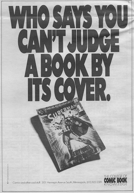 One of Bill Johnson's ads for Comic College