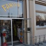 Fantasy Books and Games front - The sign needs a brighter light!