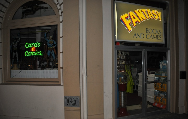 Fantasy Books and Games front door