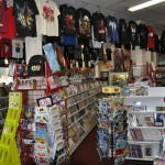 Young readers books and t-shirts at Fantasy Books and Games
