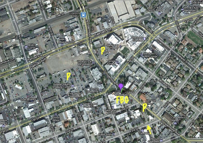 Fantasy Books and Games Parking in Downtown Livermore California
