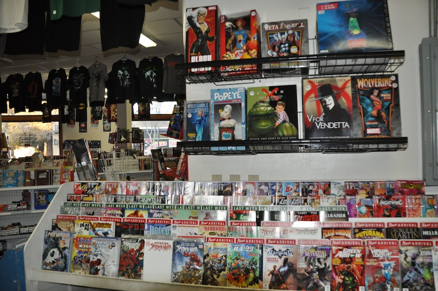 Statues and comics and t-shirts!