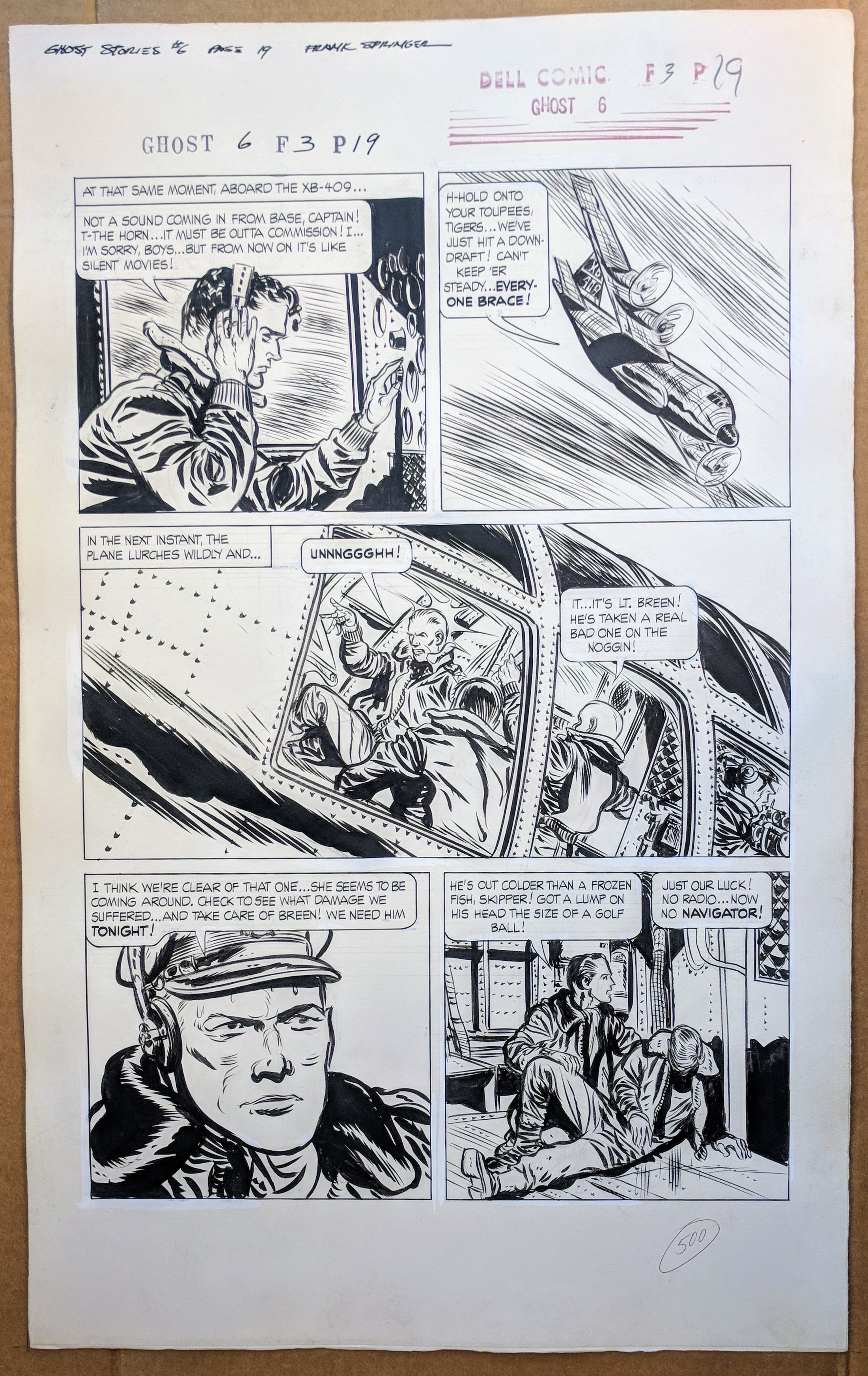 Ghost Stories #3 Frank Springer story 7 pages ends 10/4 near